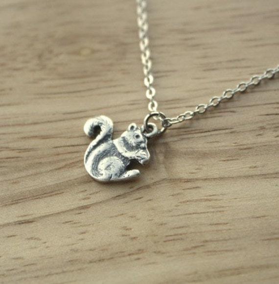 Simple Squirrel Necklace