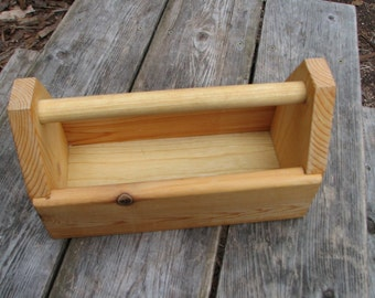 Wooden Toolbox, Small - Art Caddy, Office/Artist Supplies Holder