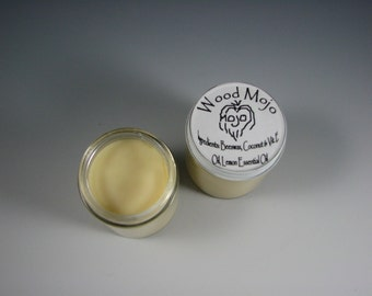 Wood Mojo 4 oz jar - beeswax natural finish for unfinished wood and also a salve for human skin