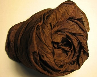 Playsilk - 35x35 inch silk in Chocolate Brown - Dark, Rich, Soil for your Nature Table