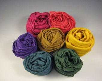 Playsilks - 35 x 35 inch Earth Rainbow - set of 7 colors - Waldorf Inspired