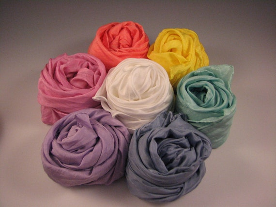 ONE Playsilk 35 x 35 inch from the Pastel Set - Choose Your Color - Waldorf Inspired