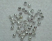 2mm Round Silver Plated Beads