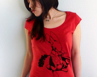 Vampire Bunny Women's T-shirt - Vegan Shirt - Rabbit Tshirt - Vampire Shirt - Bunny Shirt - Vegan Gift - Animal Graphic Tee