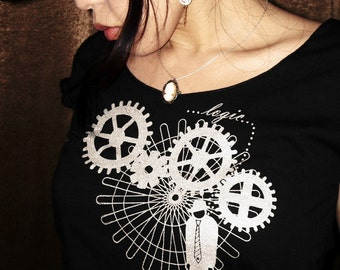 Steampunk Women's Top, Steampunk Tshirt, Engineer Tshirt - Logic Trap Women's Scoop Neck T-shirt