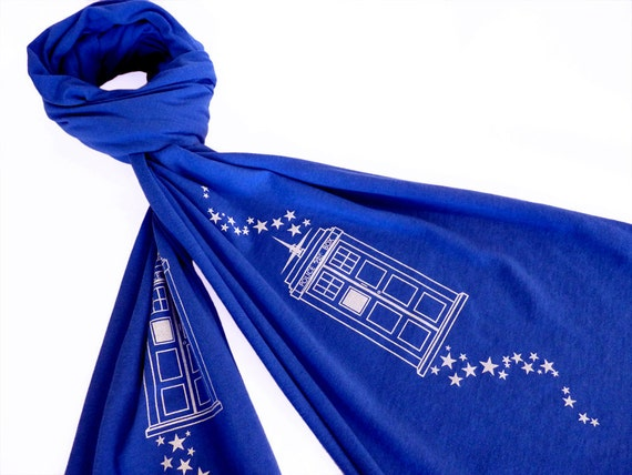 Tardis cotton scarf