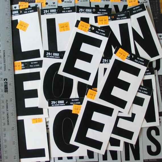 51 unused vinyl peel and stick letters 2 1 2 and 3 inch With peel and stick vinyl letters