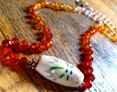 Carnilean necklace with dragonfly bead