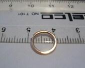 nose ring...14kt ROSE gold filled...Endless Nose Ring...18 gauge...snug fit....