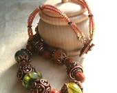 Exotic Copper Necklace and Earrings - Sale