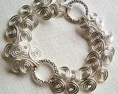 Hammered Rings Egyptian Coil Bracelet