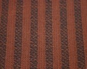 Brown and Black Stripe Vintage Fabric TWO YARDS RESERVED