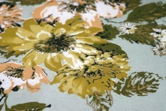 Unusual Daphne Vintage Fabric last TWO and  HALF YARDS
