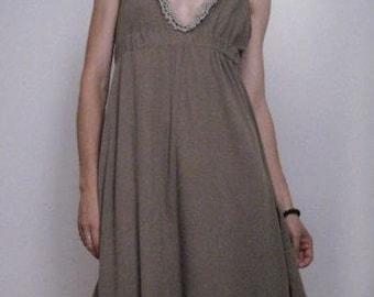 Anais Olesia Dress -Taupe