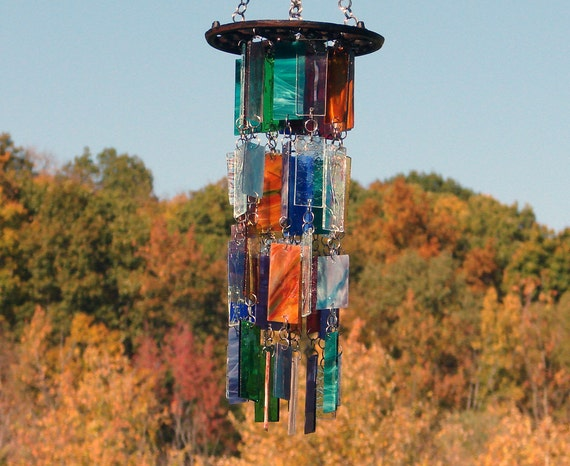 Winds Of Change III Kaleidoscope -- Stained Glass Wind Chimes OOAK -- 25% OFF Black Friday - Cyber Monday