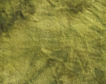 "Hand-dyed Wool Fabric - ""Grass"""