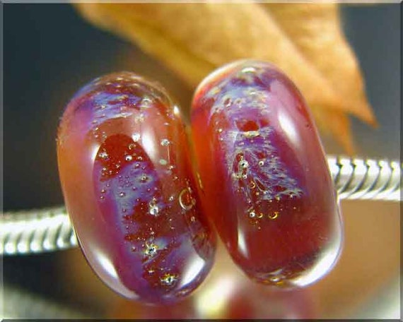LONG ISLAND Big hole Art Glass lampwork beads for European Charm Chains