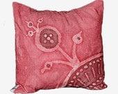 SALE -30%  / Handmade batik fabric 13x13 cushion- Accent pillow