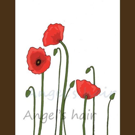 Set of 5 floral cards