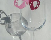 8 Butterfly Wedding Glass Place name cards