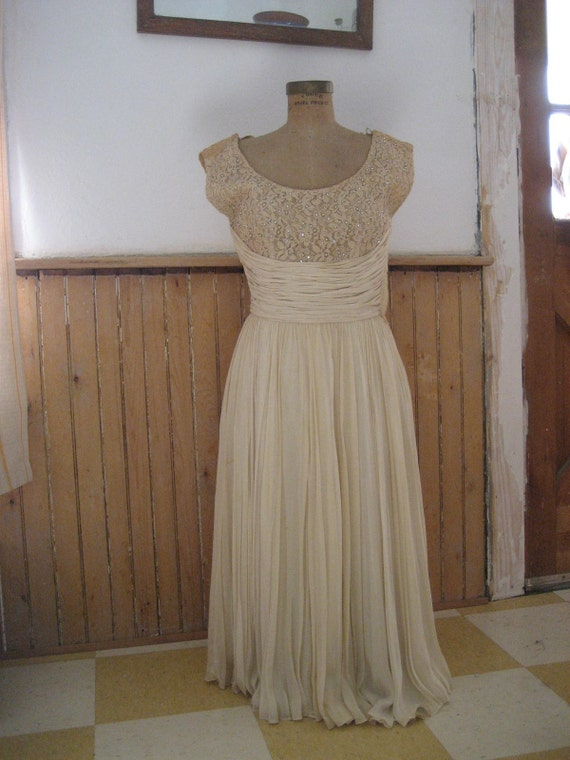 1950s 1960s wedding dress cocktail dress SMALL