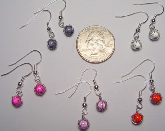 One Pair of 4mm Single Materia Earrings, Made to Order