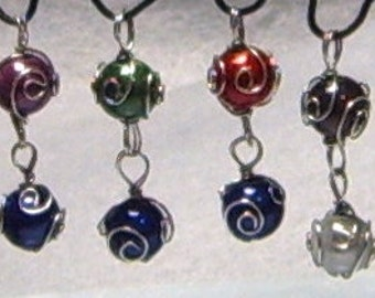 8mm Linked Materia Pendants, Made to Order