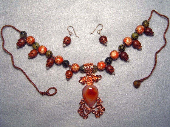 With Her Blessings, necklace and earring set