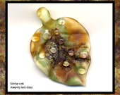 RESERVED for IlonaM  Autumn Rain Leaf Bead
