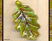 Sunrise Oak Leaf Bead
