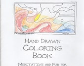 COLORING BOOK hand drawn abstracts ART