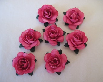 Small  Paper Roses Pink Handmade 7 in this listing