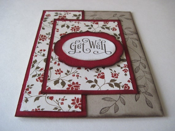 Floral Get Well Handmade Greeting Card