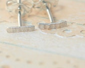 super tiny bar earrings in sterling silver