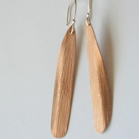 SALE bronze age petal drop earrings