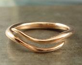 Rose Gold Wave Vine Ring