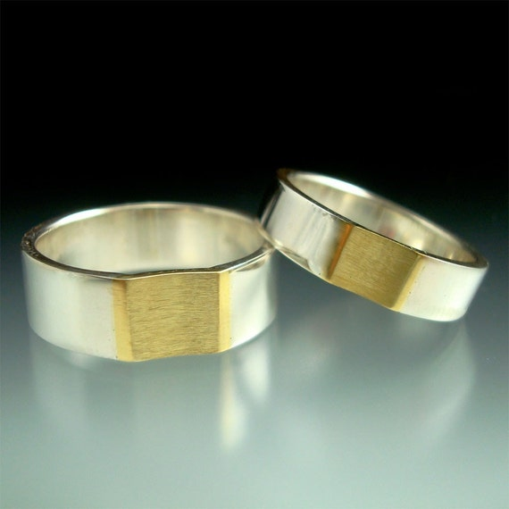 Reverse Radius Wedding Rings - Made to Order