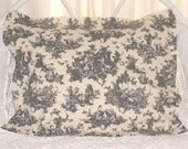 Black Toile Pillow Shams - Stnd