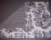 BLACK TOILE PLACEMATS - Reverses to Gingham