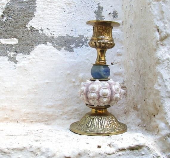 Vintage Brass Sea Urchin Candle Holder