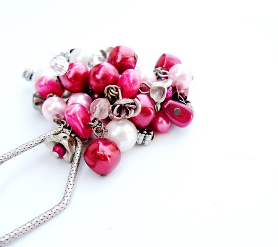 Berries and Roses Keychain / Bag Ring