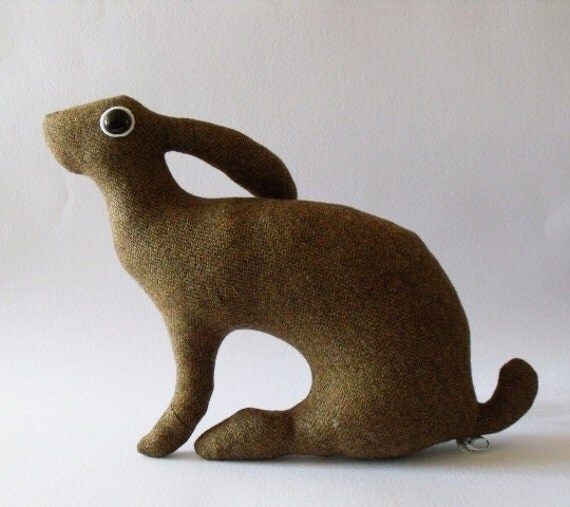 RESERVED   Mother Hare Wisp             Soft Sculpture who hasn't let modelling go to her pretty head
