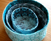 quilted soft sculpture nesting bowls - belladonna - price INCLUDES shipping