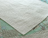 Quilt - throw or accent quilt , baby quilt,  crib quilt, - White as Snow  - ready to ship