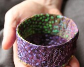 quilted soft sculpture bowl - small - purple frog pad