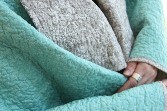 Kimono Quilt - RESERVED for JeNai - enfolded in the sea