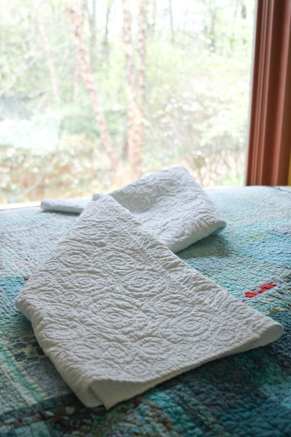 Quilt - baby,  crib, throw or accent quilt - sea glass