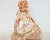 Vintage Pink Snowflake Southern Bell Doll