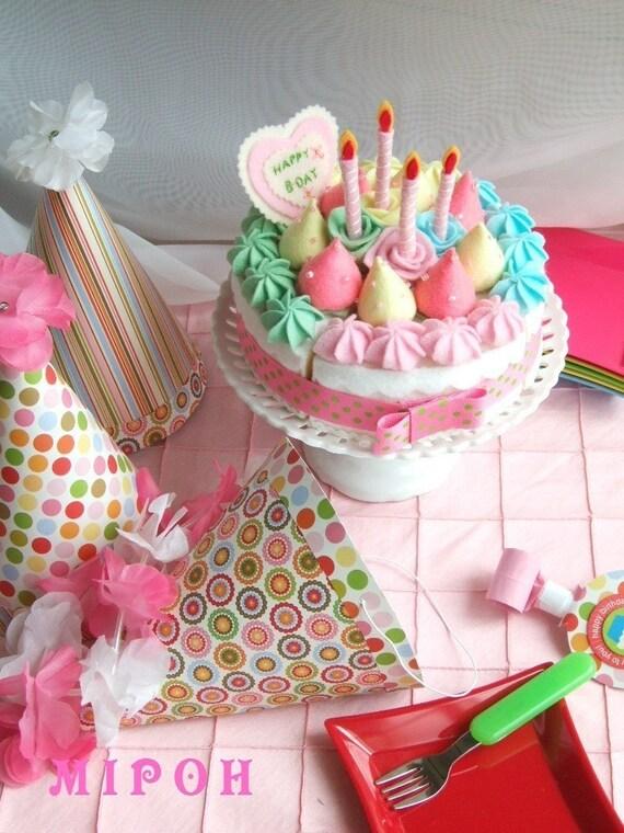 Personalized Pastel Birthday Cake -Decorating Set