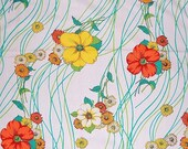 Clearance Sale--Bright Floral Vintage Fabric